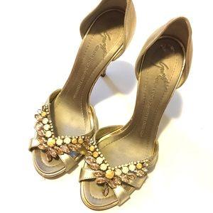 giuseppe zanotti jeweled heel Sz 37